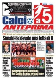 calcio a 5 39/11 RM - Calcio a 5 Anteprima