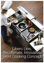 Libero Line, the Ultimate, Innovative, Front Cooking Concept