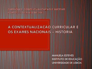 MANUELA ESTEVES INSTITUTO DE EDUCAÇÃO UNIVERSIDADE ...