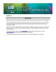 Hospitality Suites Exhibitor Manual - CES