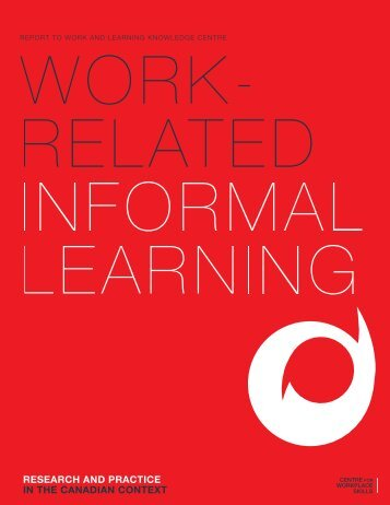 Work-related Informal Learning - National Adult Literacy Database