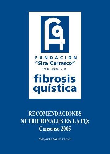 Recomendaciones Nutricionales en la FQ. - Fundación 'Sira Carrasco'