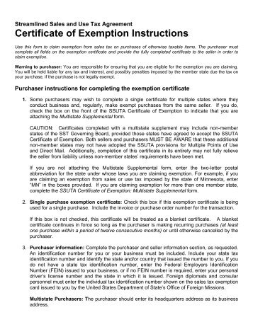 Certificate of Exemption - E-595 - Keiger Graphic Communications