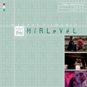 +hirlevel terv 2008+Magyar-G - Magyar Filmunió