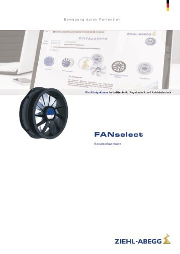 Download User-Manual FANselect - Ziehl-Abegg