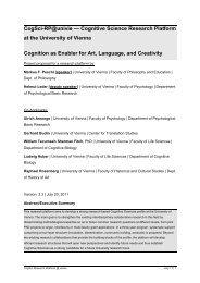 2 Cognitive Sciences - Cognitive Science Research Platform