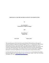 MICRO DATA AND THE MACRO ELASTICITY OF ... - Census Bureau