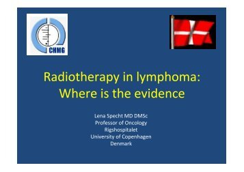 Radiotherapy in lymphoma - Cochrane Haematological ...