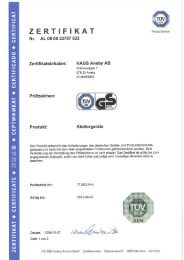 Page 1 Product Service - Germa ny Page 2 ZE RTI F I KAT Product ...