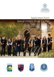 Music Application - Brighton Secondary School