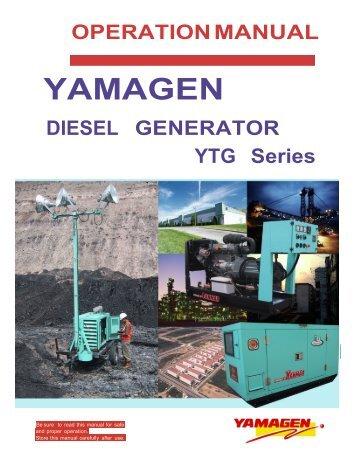 yanmar ytg series diesel powered generators service repair manual download