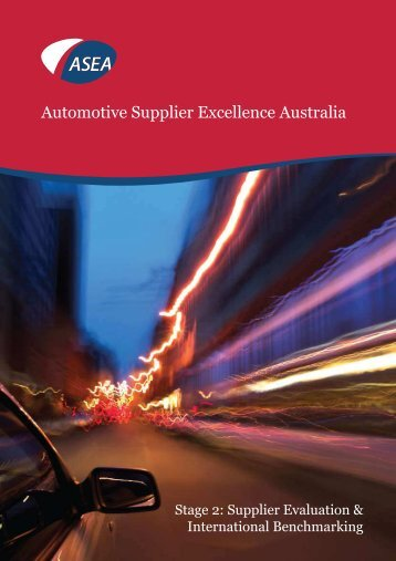 Stage 2: Supplier Evaluation & International Benchmarking - ASEA