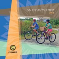 City of Powell Annual Report 2012 - The City of Powell