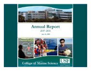 Annual Report 2007-2008 - College of Marine Science