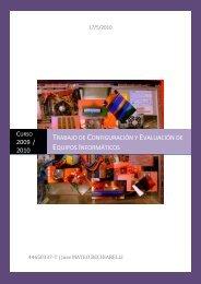 Trabajo de Configuración y Evaluación de Equipos Informáticos
