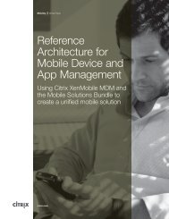 Reference Architecture for Mobile Device and App ... - Citrix