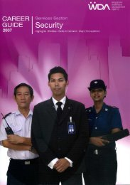 Security Career Guide 2007 by WDA (PDF - 7.81 - Singapore Police ...