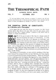Number 4 — October 1913 - The Theosophical Society