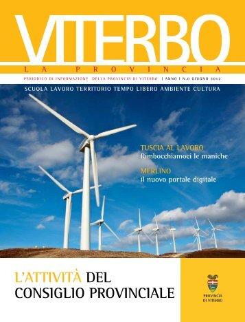 l'attività del conSiglio Provinciale - Provincia di Viterbo