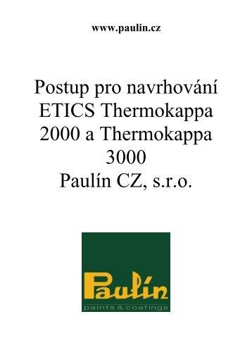 Postup pro navrhování (pdf) - Paulín CZ, sro