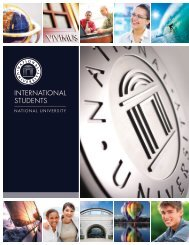 International Students Brochure - National University