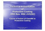 Technical Presentation of Protective Coating ,IMO Res. MSC.215(82)