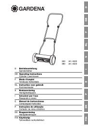 OM, Gardena, Cylinder Lawnmower, Art 04020-20 ... - Gardena.com