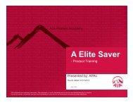 A Elite Saver (English) Training Slides