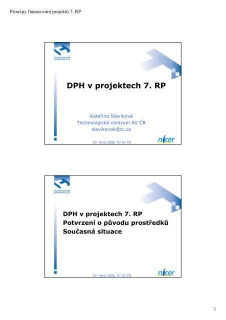 DPH v projektech 7. RP