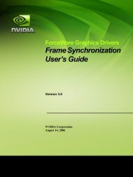 Frame Synchronization User's Guide - Nvidia's Download site!!