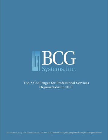 BCG and Company's Top 5 Challenges for Professional Services ...