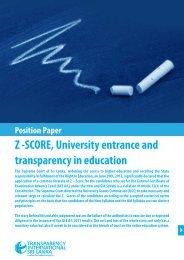 Download Full Position Paper - Transparency International Sri Lanka
