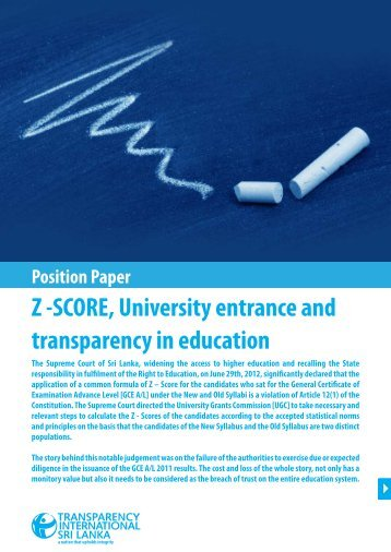 Download Full Position Paper - Transparency International Sri Lanka