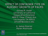 Effect of Various Container Models and Sizes on Growth of Two ...