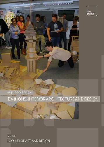 BA Hons Interior Architecture And Design Welcome Pack