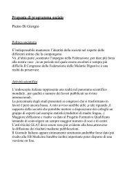 Proposta di programma sociale Pietro Di Giorgio - Sied