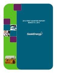 First Quarter Financial Statements 2013 - SaskEnergy