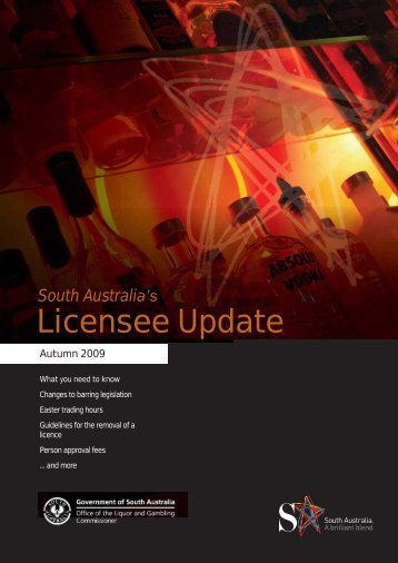 Licensee Update March 2009 - Office of the Liquor and Gambling ...