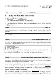 Deutsch 2. Sek 2011 - Lösungen - SchulArena.com