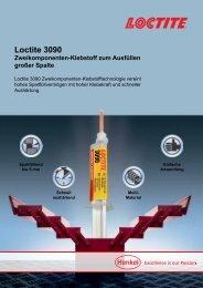 Loctite 3090 Zweikomponenten-Klebstoff zum Ausfüllen großer Spalte