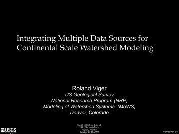 Integrating Multiple Data Sources for Continental ... - SMAP - NASA