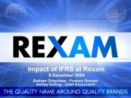 Impact of IFRS presentation December 2004