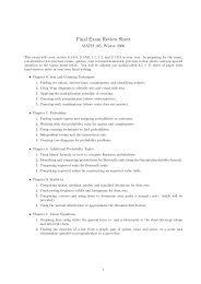Final Exam Review Sheet