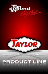 Product Brochure - Taylor Machine Works