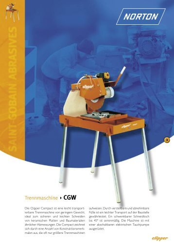 Trennmaschine CGW - Norton Construction Products