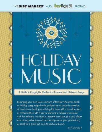 Holiday Music Licensing 2011