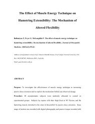 THE EFFECT OF MUSCLE ENERGY TECHNIQUE ON HAMSTRING ...