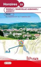 Horaires 33 - Conseil Général de Haute-Savoie