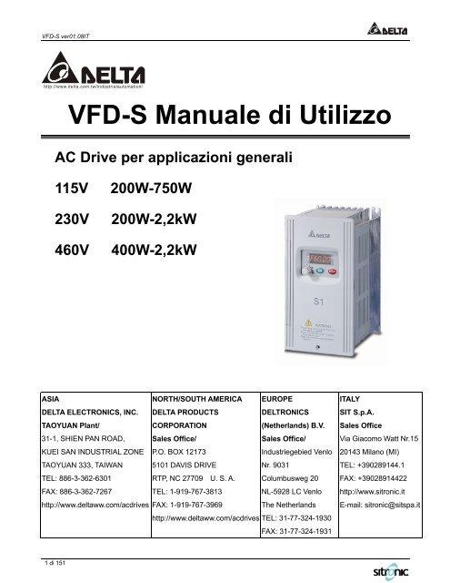 Manuale VFD-S (IT) - Sit SpA