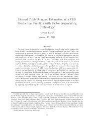 Beyond Cobb-Douglas: Estimation of a CES Production Function ...